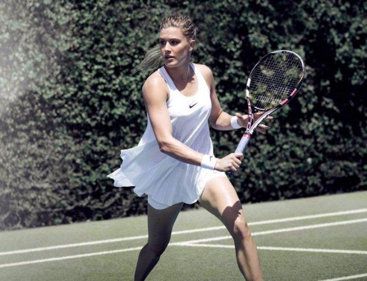 Wimbledon-All-White-Ensemble-Eugenie-Bouchard-Nike-Dress-Nightie-Ad