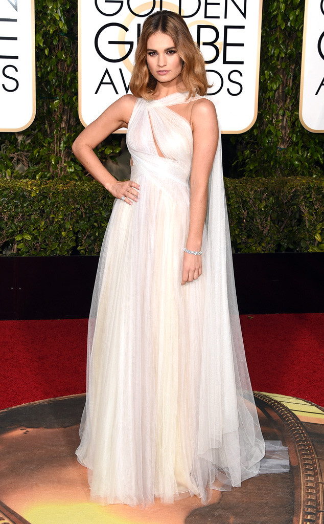 Golden-Globe-Awards-2016-lily-james-Marchesa
