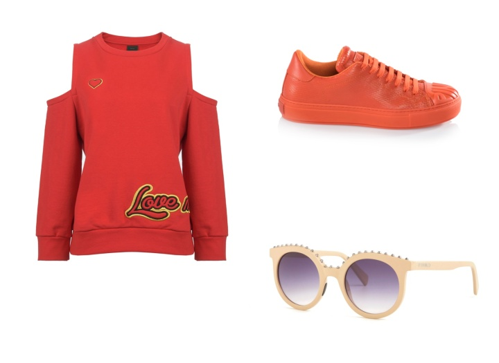 Eternal-Optimist-SS16-Trend-InStyle-Sunglasses-Sneakers-Jumper-Red-Orange-Pinko