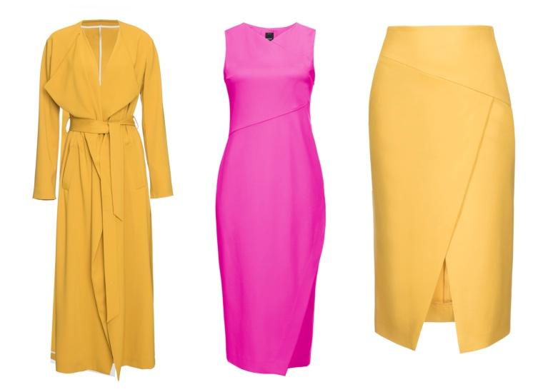 Eternal-Optimist-SS16-Trend-InStyle-Trench-Coat-Dress-Skirt-Yellow-Pink-Pinko