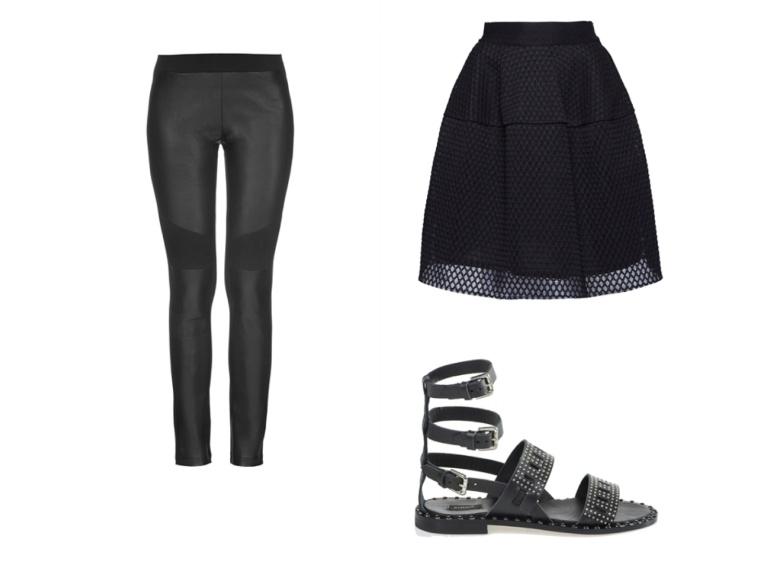 Cyber-Punk-InStyle-SS16-Trend-Spring-Summer-Leather-Jacket-Pants-Legging-Pinko-Italian-Brand-Fishnet-Sandals-Skirt-Black