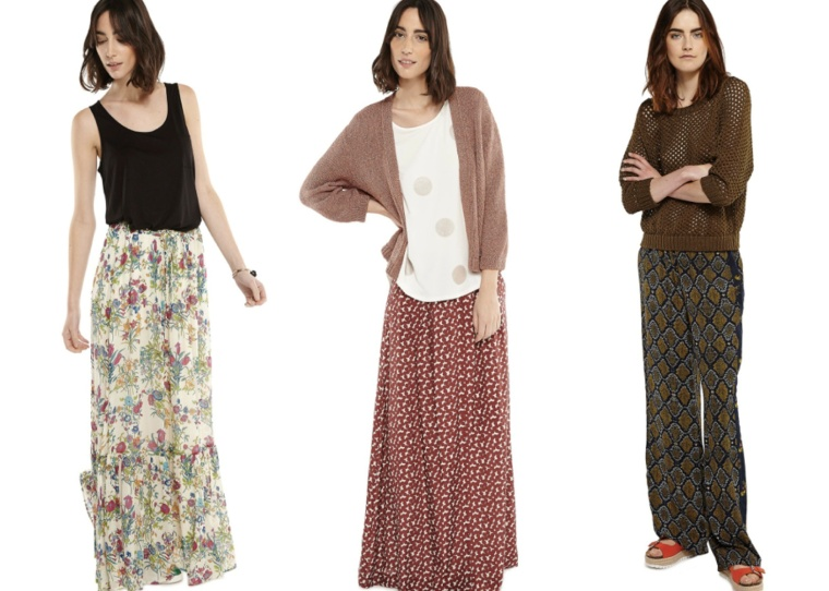 SS16-Trend-InStyle-Essentiel-Antwerp-Belgian-Brand-Bohemian-New-Boho-Hippie-Chic-Maxi-Dress-Pants-Skirt-Pleated-Print-Flimsy-Dots-Flowers