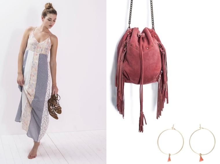 SS16-Trend-InStyle-IKKS-ICODE-Belgian-Brand-Bohemian-New-Boho-Hippie-Chic-Maxi-Dress-Pants-Skirt-Pleated-Print-Flimsy-Poncho-Kimono-Bag-Fringe-Earrings-Patchwork