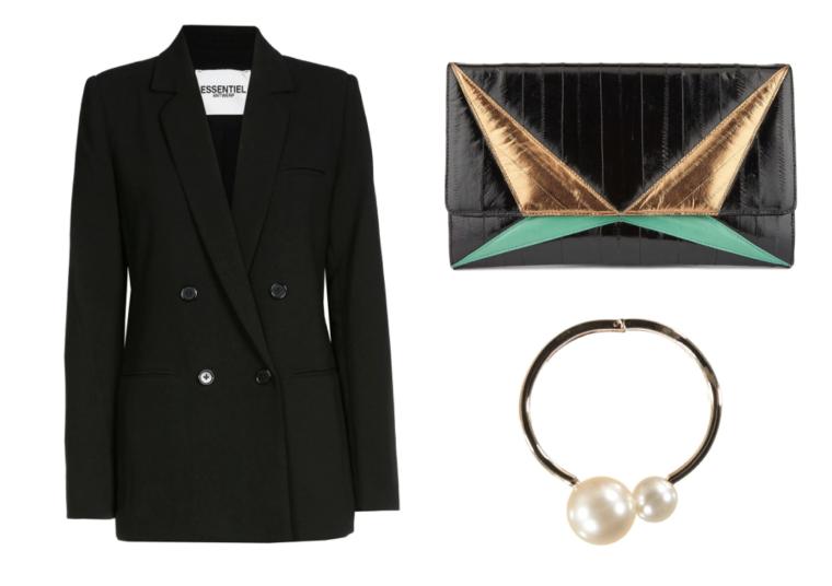 InStyle-In-Style-Woman-on-Top-SS16-Trends-Trend-Summer-Spring-2016-Badass-Powerful-Girl-Power-Blazer-Tailored-Cutch-Shoulder-Bag-Bracelet-Essentiel-Antwerp-Belgian-Brand