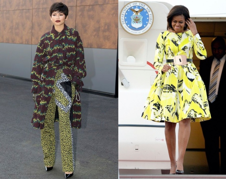 Kenzo-Celebrity-Fans-Fan-Zendaya-Paris-Fashion-Week-Michelle-Obama-First-Lady