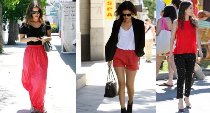 Rachel-Bilson-Black-Red-Team-Belgique-Belchique-O'Ren-Sweater-Belgian-Brand-Show-Your-Colors-Art-Go-Belgium-Euro-2016-Style-Icon-Zoe-Hart-of-Dixie-Patterns-Pants-Maxi-Skirt-Shorts