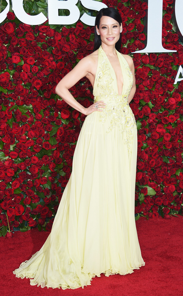 Tony-Awards-2016-Red-Carpet-Arrivals-E!Online-Top-10-Best-Dressed-Lucy-Liu-Zuhair-Murad-canary-yellow