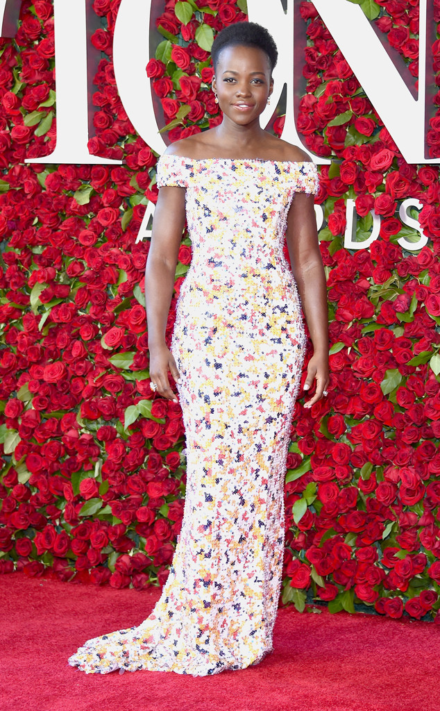 Tony-Awards-2016-Red-Carpet-Arrivals-E!Online-Top-10-Best-Dressed-Lupita-Nyong'o-Eclipsed-Jason-Wu-floral-off-the-shoulder-gown-boss-tailored-made-sur-mesure