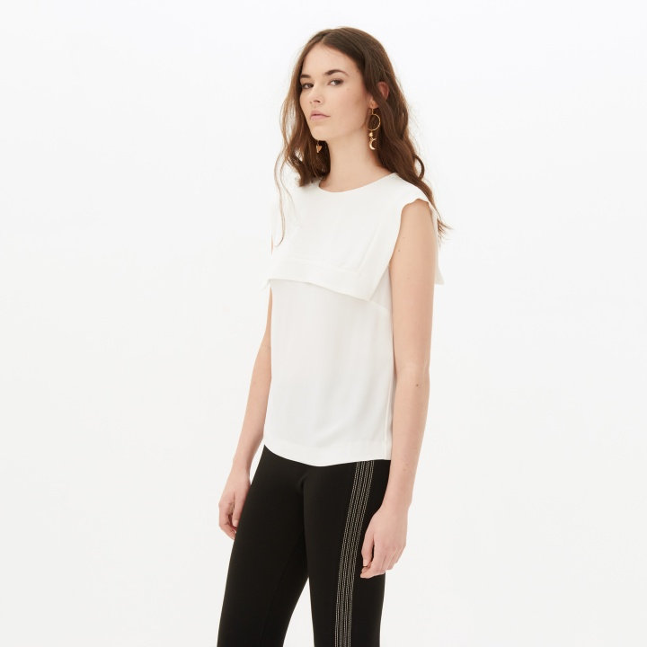 Sandro-White-Wishlist-Top-Pinko-Business-Meeting-Work-Appropriate