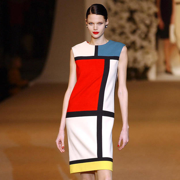 Les-pieces-cultes-d-Yves-Saint-Laurent-10-Things-You-Didn't-Did-not-know-about-YSL-Yves-Saint-Laurent-Mondrian-dress-dresses