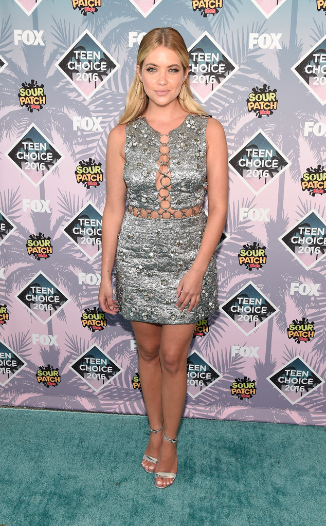 TCA-2016-Teen-Choice-Awards-Red-Carpet-Looks-My-Top-10-ashley-benson-michael-kors-metallic-dress