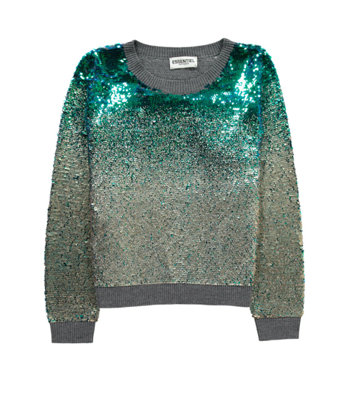 essentiel-antwerp-sweater-pull-sequin-silver-argent-green-vert-belgian-fashionista-french-brand-silver-techno-times-trend-autumn-winter-automne-hiver-2016-2017-aw1617-tendance-tendances-trends