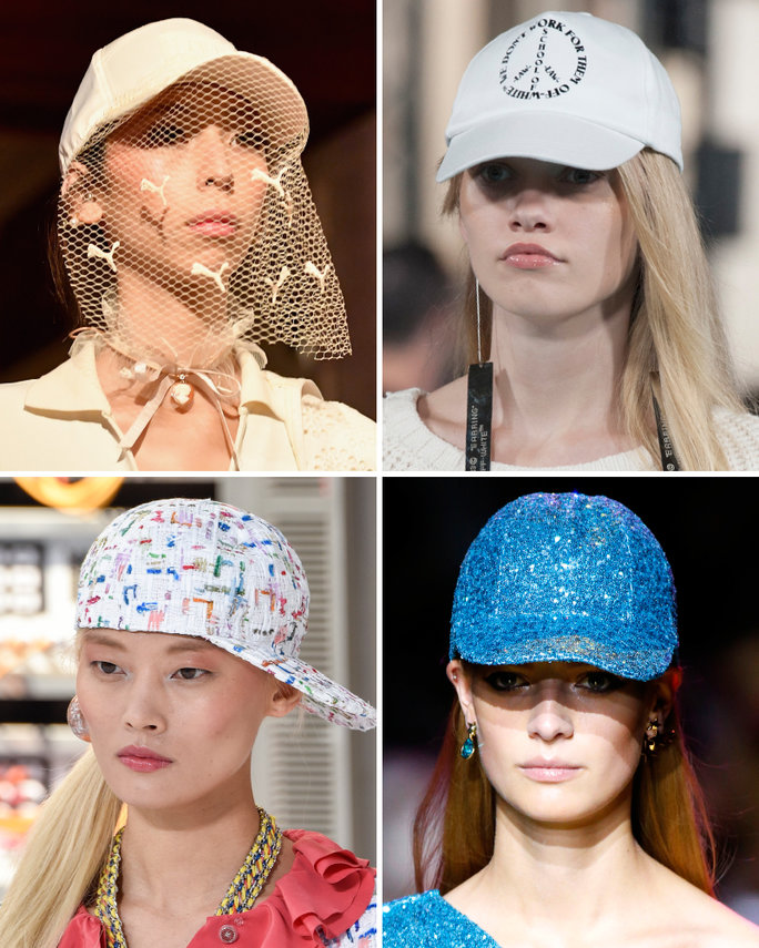london-fashion-week-lfw-milan-paris-pfw-lfw-big-trends-instyle-baseball-hats-hat-report