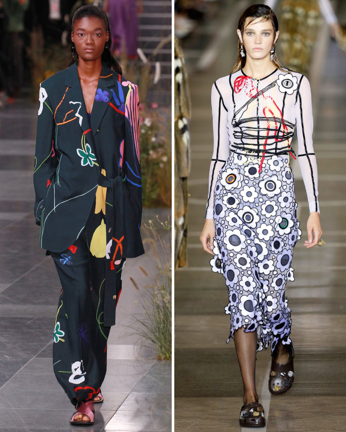 london-fashion-week-lfw-milan-paris-pfw-lfw-big-trends-instyle-graphic-garden-prints-report