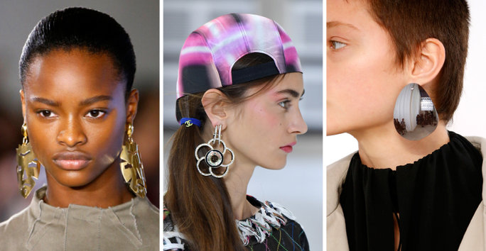 london-fashion-week-lfw-milan-paris-pfw-lfw-big-trends-instyle-statement-metal-earrings-earring-report