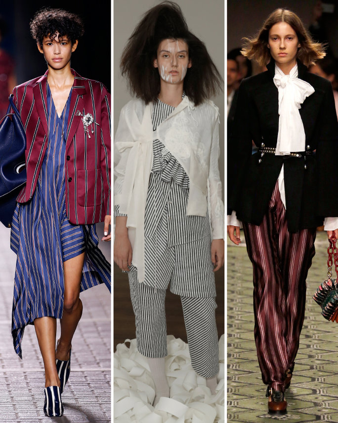 london-fashion-week-lfw-milan-paris-pfw-lfw-big-trends-instyle-stripes-pinstripe-parade-report