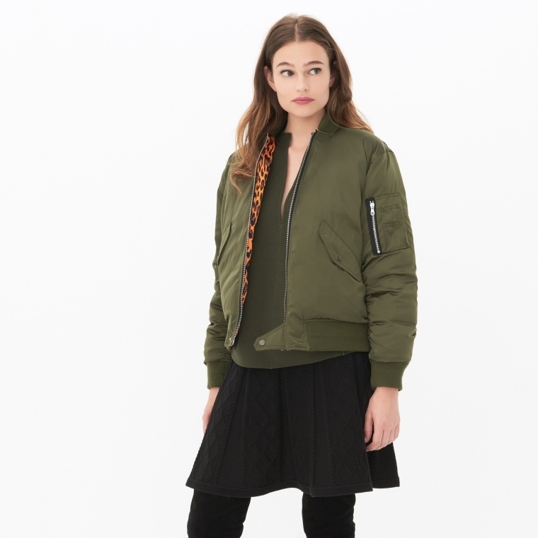series-trends-autumn-winter-aw16-green-belgian-brand-french-sandro-paris-bomber-jacket