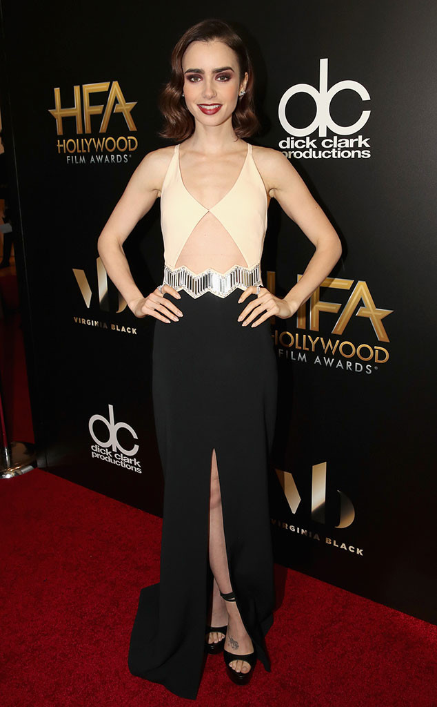hollywood-awards-2016-red-carpet-arrivals-top-10-best-dressed-lily-collins