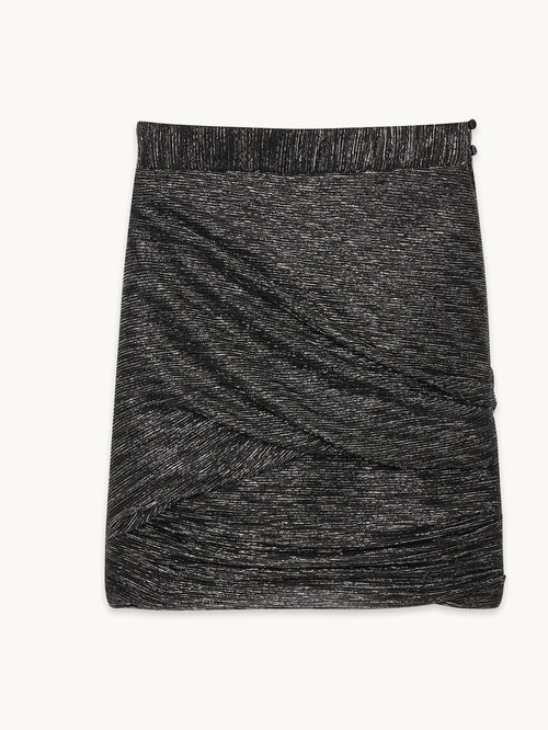 festive-season-outfit-black-short-janaud-skirt-draped-holidays-christmas-new-year-eve-belgian-brand-maje