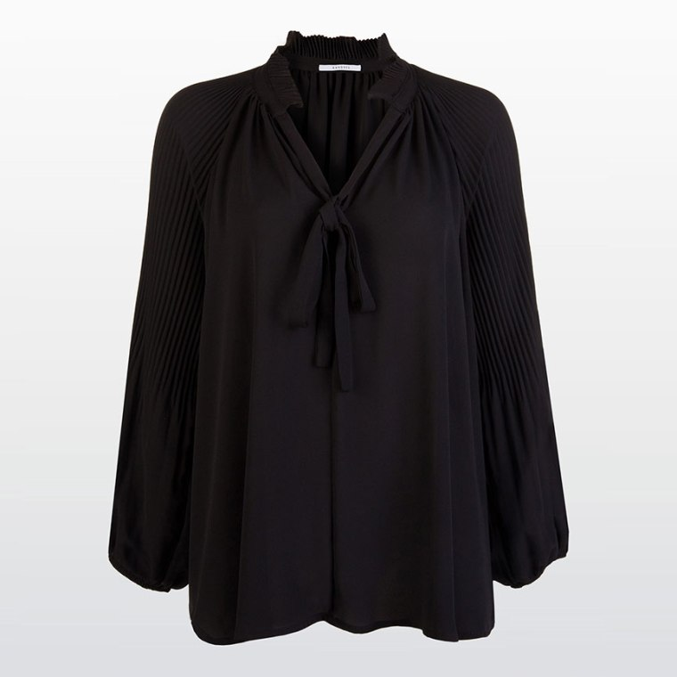 festive-season-outfit-limited-edition-black-blouse-holidays-christmas-new-year-eve-belgian-brand-xandres-hampton-bays