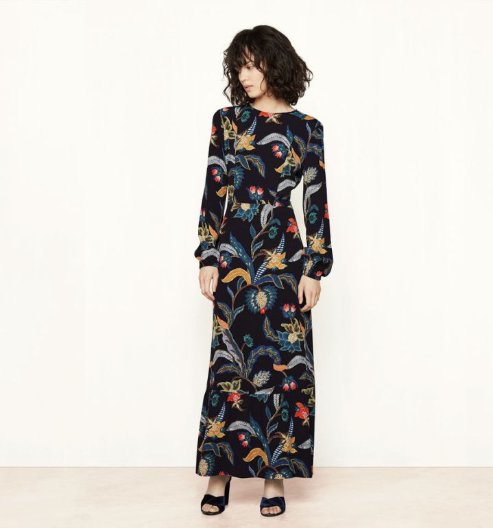 maje-brand-russian-baroque-trend-autumn-winter-trend-aw1617-belgian-fashionista-fashion-blog-blogueuse-belge-mode-long-maxi-dress-rousseau-print