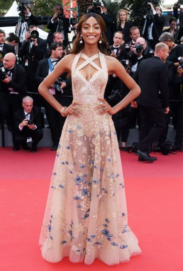 Jourdan Dunn in Elie Saab (Photo Credit: Who What Wear)
