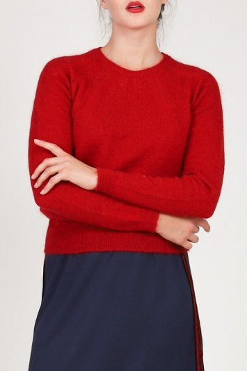 An open knit pullover (Photo Credit: Just in Case)