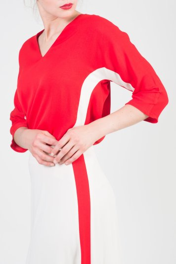 A stripe blouse (Photo Credit: Just in Case)