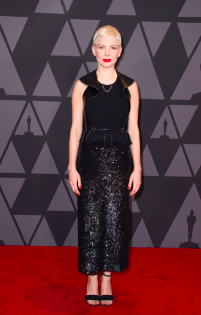 Governors-Awards-2017-Best-dressed-red-carpet-arrivals-season-top-10-hollywood-november-actors-cinema-movie-star-celebrity-style-fashion-blogger-belgian-haute-couture-michelle-williams