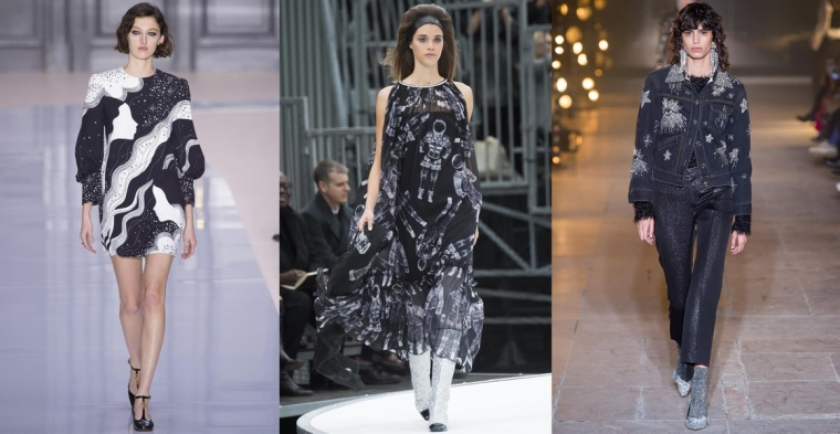 how-to-wear-fw-fall-winter-fw-2017-2018-trend-silver-galactic-print-space-odissey-belgian-brand-fashion-blogger-chloe-chanel-isabelle-marant