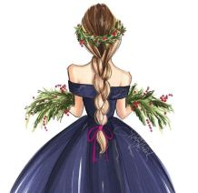 Fashion Illustration by Holly Nichols Photo Credit: Pinterest