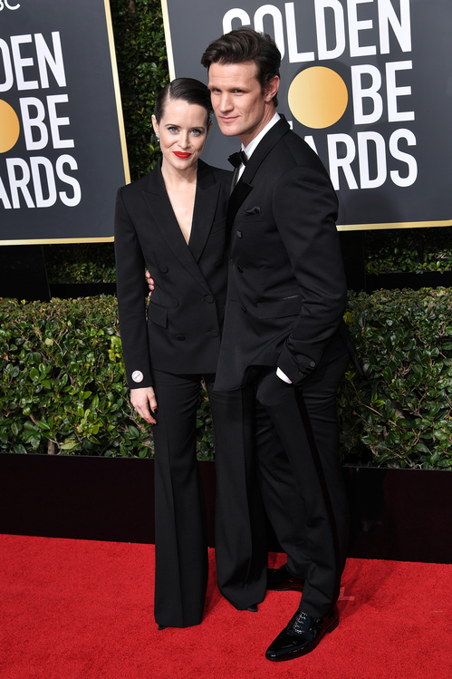 golden-globes-awards-season-black-times-up-2018-feminist-equality-best-dressed-red-carpet-look-gorgeous-beautiful-actress-talented-strong-women-claire-foy-stella-mccartney-matt-smith.jpg