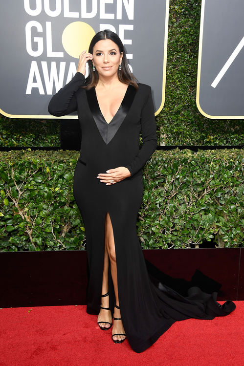golden-globes-awards-season-black-times-up-2018-feminist-equality-best-dressed-red-carpet-look-gorgeous-beautiful-actress-talented-strong-women-eva-longoria-genny